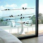 Naklejki Na Ścianę Okno Ścienne Okienne Ptaszki 57x11