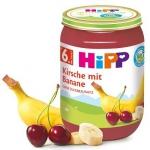 HIPP BIO Owoce Banan Wiśnia Witaminy 190g 6m