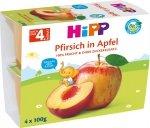 HIPP BIO Mus owocowy Jabłko Brzoskwinia 4x100g 4m