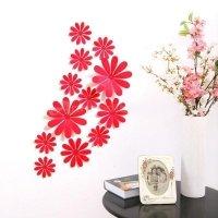 Kwiaty KWIATKI 3D ŚCIANĘ PVC DUŻE 12 MONTAŻ