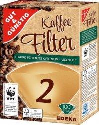 Filtry do Kawy Ekspresu rozmiar 2 100 szt. WWF