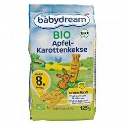 BabyDream Bio Keksy Jabłko Marchewka 30 szt 8m