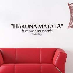 Naklejki Na Ścianę Ścienne Hakuna Matata 57x13