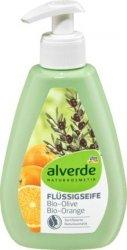 Alverde BIO Naturalne Mydło W Płynie Oliwka Pomarańcz Wegan
