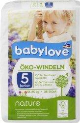 Babylove Pieluszki Ekologiczne Naturalne 5 Junior