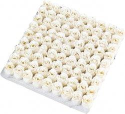 Wieczna Róża Biała Mydełko Kąpiel Prezent kwiaty 4cm