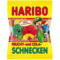 Haribo Ślimaki o smaku owocowym i cola Z Niemiec