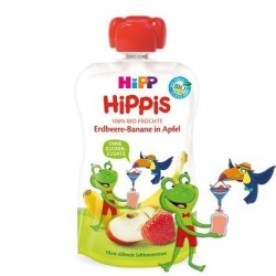 Hipp Hippis 100% Owoców Truskawka Banan Jabłko 100g
