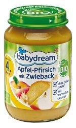 BabyDream Bio Jabłko Brzoskwinia Sucharki 4m 190g