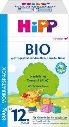 HiPP BIO Mleko nastepne dla dziecka od 12 miesiąca 800g