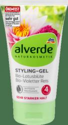 Alverde Bardzo Mocny Żel Włosów Kwiat Lotosu Fioletowy Ryż