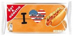 Gotowe Amerykańskie Bułki Hot Dog Rolls 4szt 250g