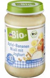 BIO Musli Jogurt Banan Jabłko Zboża 190g 10m