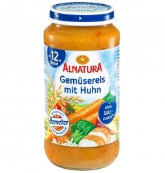 Alnatura Demeter Warzywa Ryż Kurczak 12m 250g