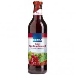 Sok z Czerwonych Winogron Naturalny 100% Szklana Butelka 750ml