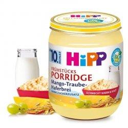 HIPP BIO Porridge Owsianka na Mleku Mango Winogron 10m