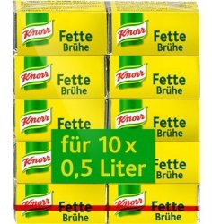Knorr Fette Bruhe kostki rosołowe 5 na 10Litrów