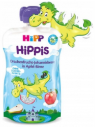 Hipp Hippis 100% Owoców Pitaya Czarna Porzeczka Jabłko Gruszka 100g