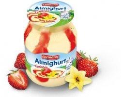 Ehrmann Almighurt Jogurt Waniliowy-Truskawka Słoik