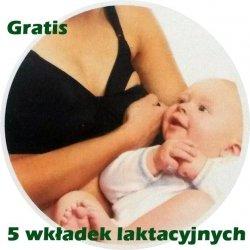 Biustonosz Stanik Ciążowy do Karmienia z Zapięciem 80 D Czarny