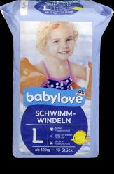 Babylove Pieluszki do pływania na Basen 12-18kg 10szt