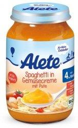 Alete Bio Spaghetti Warzywa Indyk 4m 190g