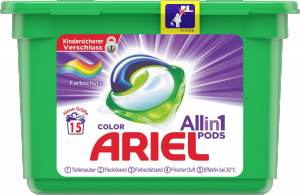Ariel Kapsułki do prania All in 1 do Koloru 15p