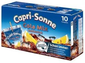 Capri Sonne Cola Mix Bez Kofeiny Sok Słomka 10szt