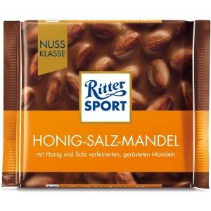 Ritter Sport Miód Migdały Sól Czekolada 100g