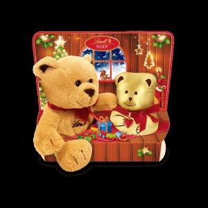 Lindt  Czekoladowy Złoty Miś Teddy + Pluszak 100g