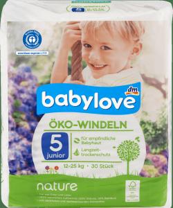 Babylove Pieluszki Ekologiczne Naturalne 5 Junior 12-25kg 30 szt