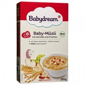 BabyDream Bio Pełnoziarniste Musli Owocowe 1r 250g