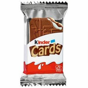 Kinder Cards Ciasteczka Krem Mleko Kakao 2szt 25,6g