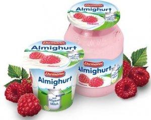 Ehrmann Almighurt Jogurt Malinowy Słoik