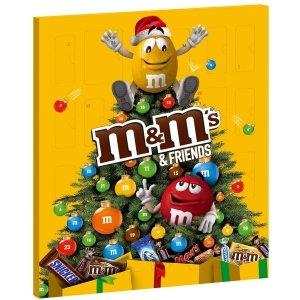 M&M`s Kalendarz Adwentowy Mikołajki Święta mix Słodyczy