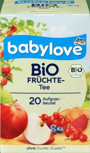 Babylove Bio Herbatka Owocowa Dzika Róża Jagody Marchew