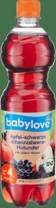 Babylove Bio Sok z Wodą Jabłko Czarna Porzeczka Kwiat Bzu 750