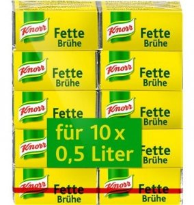 Knorr Fette Bruhe kostki rosołowe 10 sztuk 10x0,5l