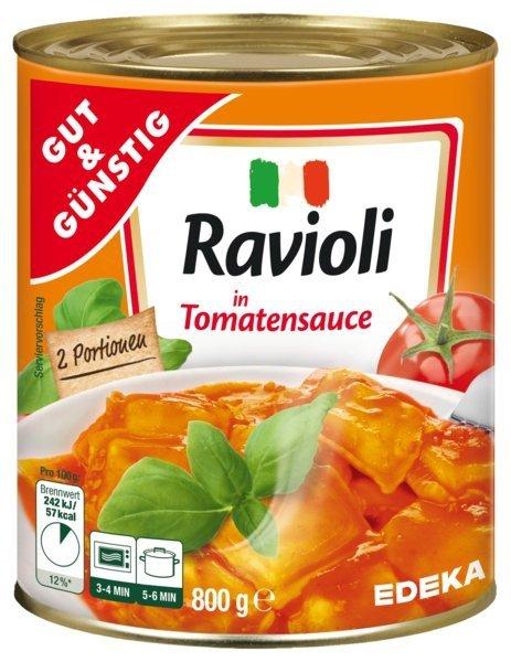 Ravioli z chudym mięsem w sosie pomidorowym