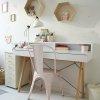 Super funkcjonalne biurko Minko Basic + z nadstawką do sypialni czy domowego biura białe