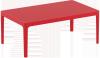 Stolik SKY Lounge Siesta z tworzywa czerwony