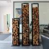 Nowoczesne metalowe stojaki na drewno Etro