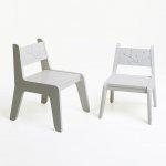 KuKuu Krzesełko Dziecięce S w kolorze bardzo mlecznym Bird&Berry