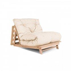 Layti 90 futon Sofa rozkładana - kremowa Woodman