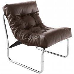 Wygodny fotel pikowany Boudoir brązowy
