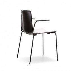Tweet 895 Krzesło dwukolorowe z podłokietnikami Pedrali