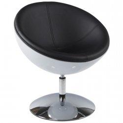 Sphere nowoczesny fotel biało-czarny