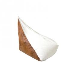 Puf Duży biało brązowy Gie El