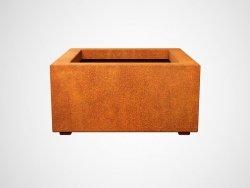 Donica metalowa - Corten BAJO 2 600x600x300