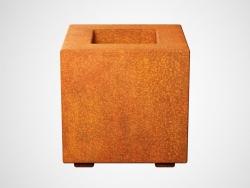 Donica metalowa - Corten CUBO 1 300x300x300